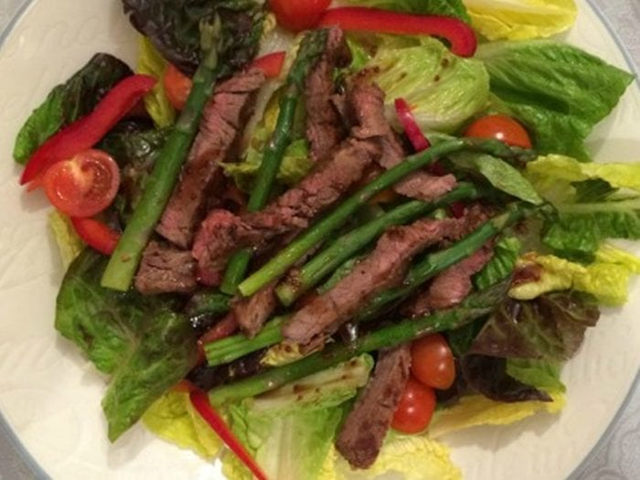 Balsamic Asparagus and Steak Salad
