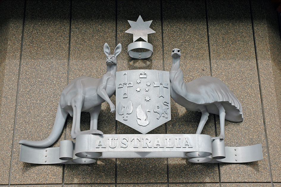 australian Coat of Arms the kangaroo and the emu