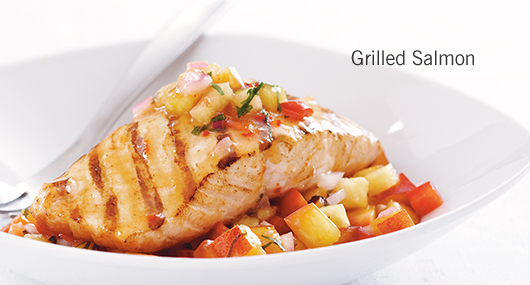 grilled salmon is a great source of essential fatty acids