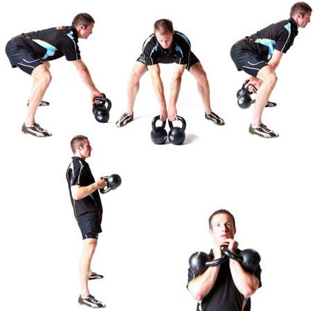 At home kettle bell workout